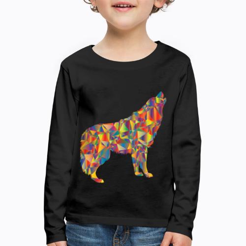 howling colorful - Kids' Premium Longsleeve Shirt
