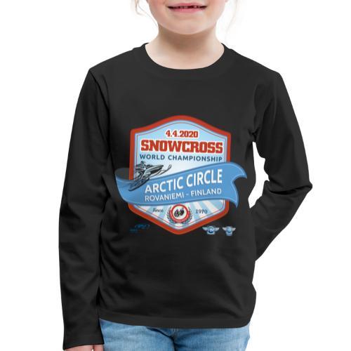 MM Snowcross 2020 virallinen fanituote - Lasten premium pitkähihainen t-paita