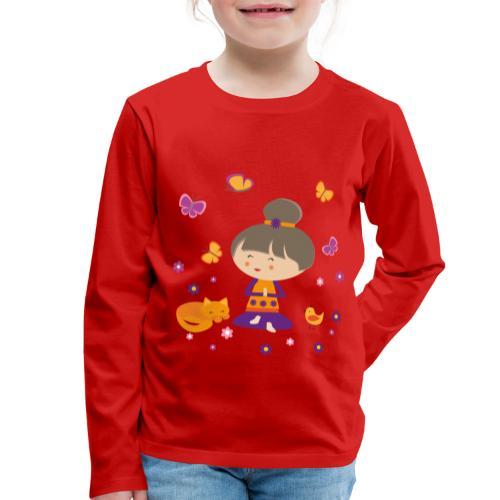 Happy Meitli - Yoga und Meditation - Kinder Premium Langarmshirt