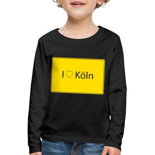I love Köln - Kinder Premium Langarmshirt