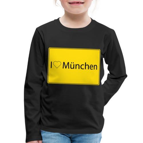 I love München - Kinder Premium Langarmshirt
