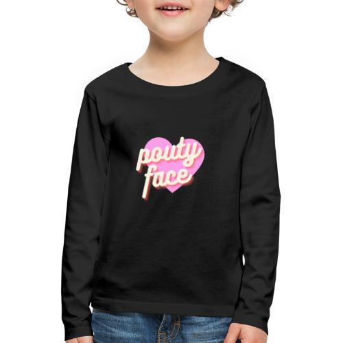 Pouty face - Koszulka dziecięca Premium z długim rękawem