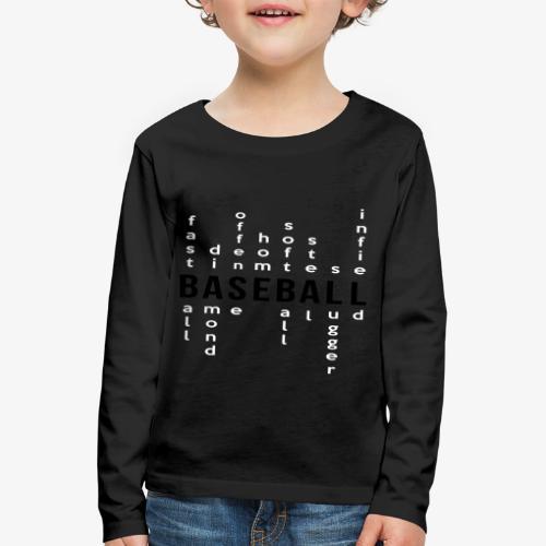 Baseball matrix - T-shirt manches longues Premium Enfant