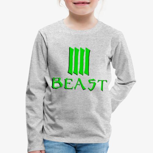 Beast Green - Kids' Premium Longsleeve Shirt