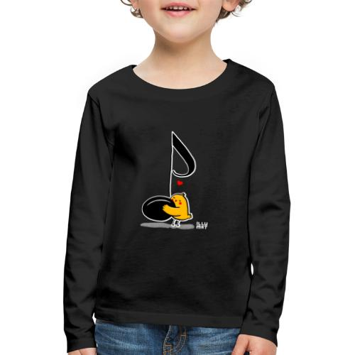 LYD 0001 02 music was my fist love - Kinder Premium Langarmshirt