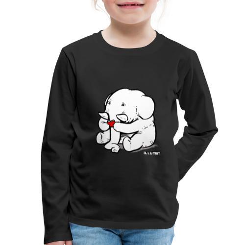 Stef 0002 00 Lesefant - Kinder Premium Langarmshirt