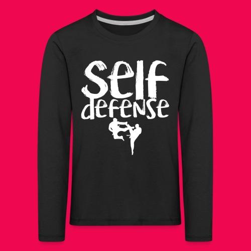 Self Defense 1.0 - Kinder Premium Langarmshirt