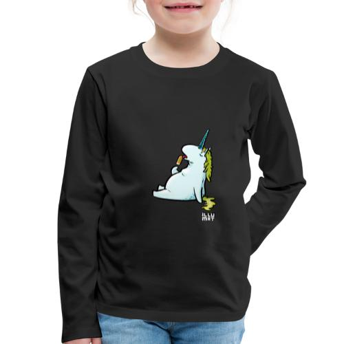 STE 0006 00 Eis Einhorn - Kinder Premium Langarmshirt