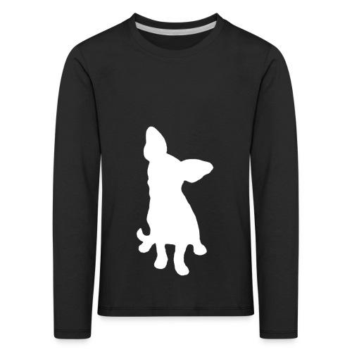 Chihuahua istuva valkoinen - Lasten premium pitkähihainen t-paita