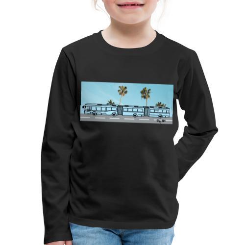 Doppelgelenkbus color palmen - Kinder Premium Langarmshirt
