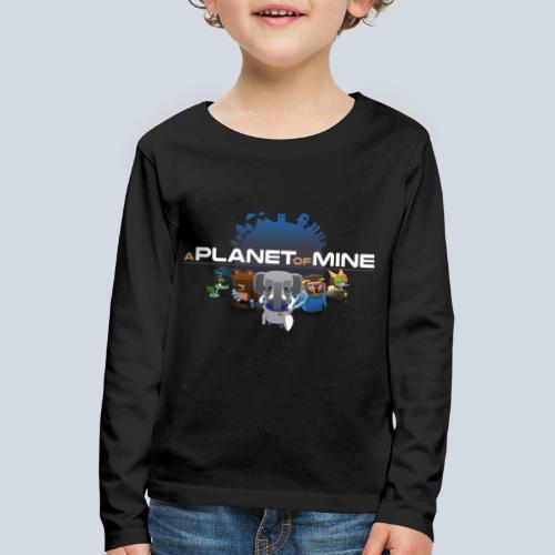 logo planetofmine dark HD - T-shirt manches longues Premium Enfant
