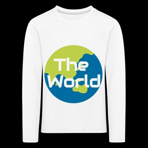The World Earth - Børne premium T-shirt med lange ærmer