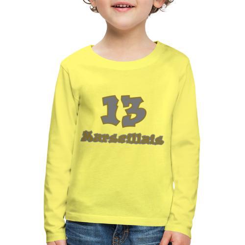 fier marseille blanc 03 - T-shirt manches longues Premium Enfant