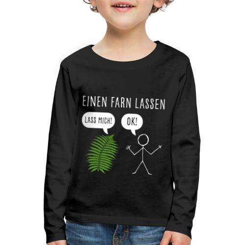 Lustiges Pupsen Furzen Shirt Geschenk witzig - Kinder Premium Langarmshirt