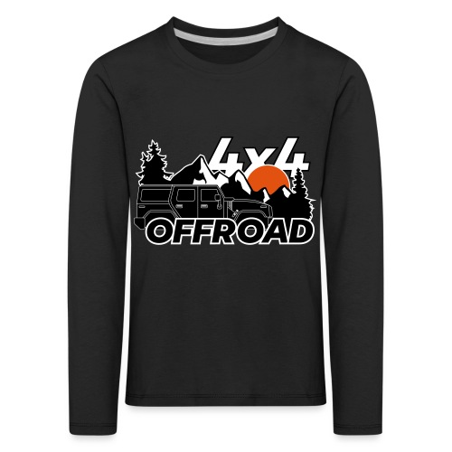 Offroad 4x4 Jeep Logo - Kinder Premium Langarmshirt
