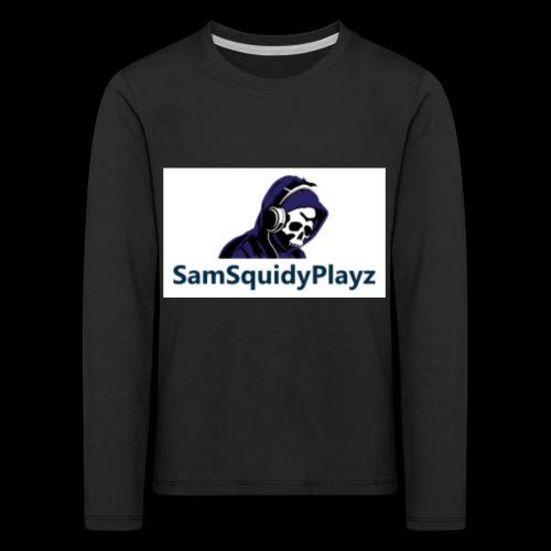 SamSquidyplayz skeleton - Kids' Premium Longsleeve Shirt