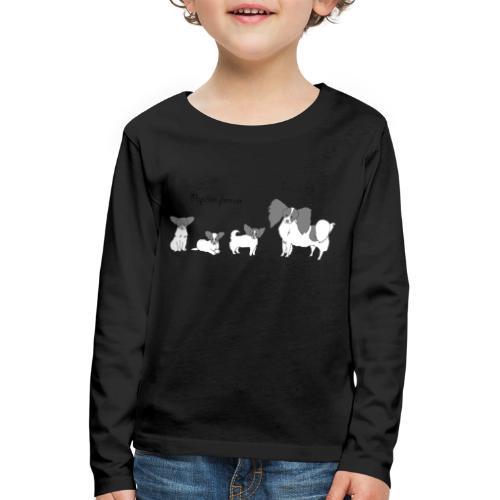 papillon forever - Børne premium T-shirt med lange ærmer