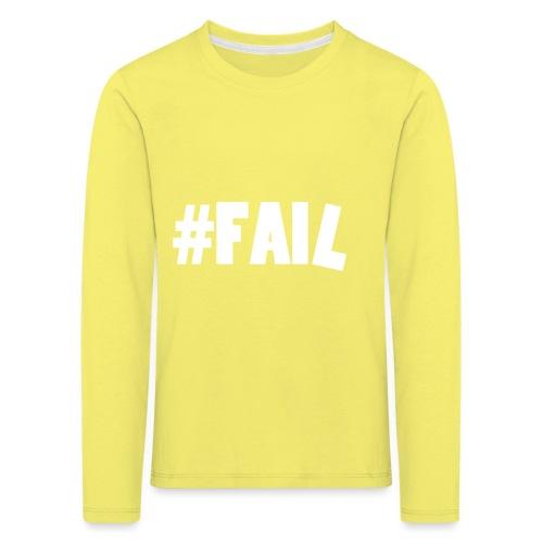 FAIL / White - T-shirt manches longues Premium Enfant