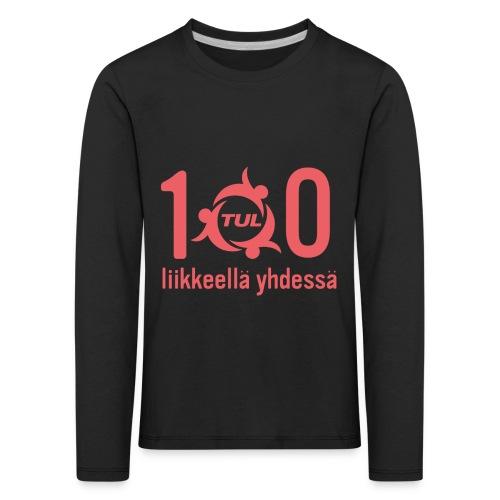 TUL100, punainen logopainatus - Lasten premium pitkähihainen t-paita