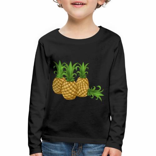 Ananas - Kinder Premium Langarmshirt