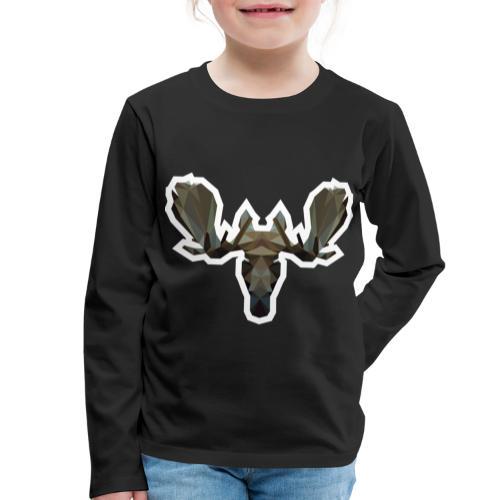 Low Poly Moosehead - Kinderen Premium shirt met lange mouwen