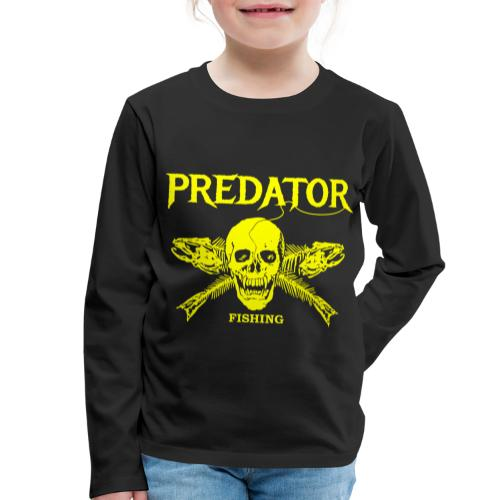 Predator fishing yellow - Kinder Premium Langarmshirt