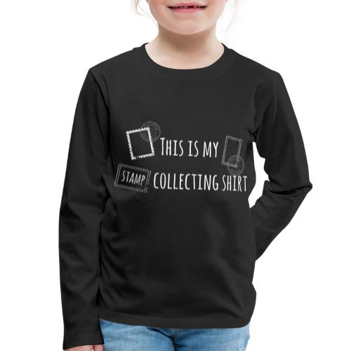 Briefmarken sammeln Stamps Shirt Geschenk - Kinder Premium Langarmshirt