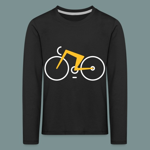 Bikes against cancer - Børne premium T-shirt med lange ærmer