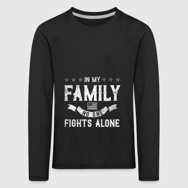 Personne dans ma famille se bat seul millésime - T-shirt manches longues Premium Enfant
