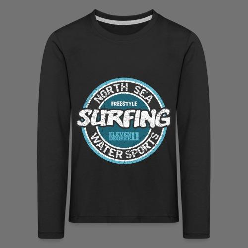North Sea Surfing (oldstyle) - Børne premium T-shirt med lange ærmer