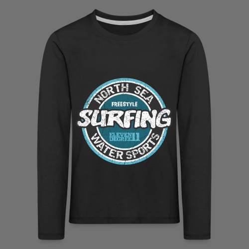 North Sea Surfing (oldstyle) - Kids' Premium Longsleeve Shirt