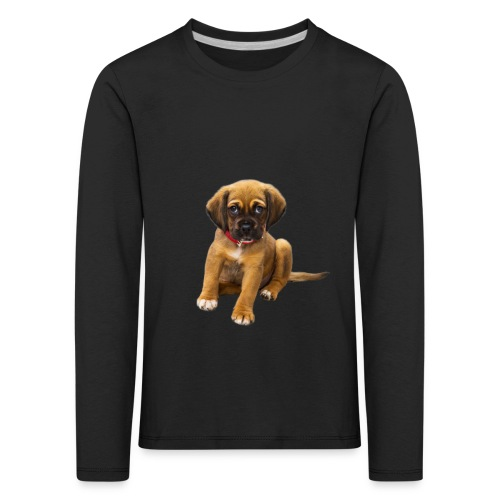 Süsses Haustier Welpe - Kinder Premium Langarmshirt