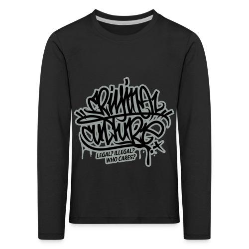 Criminal Culture - Kinder Premium Langarmshirt