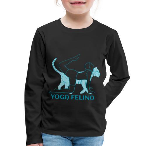 t shirt design YOGA FELINO - Maglietta Premium a manica lunga per bambini