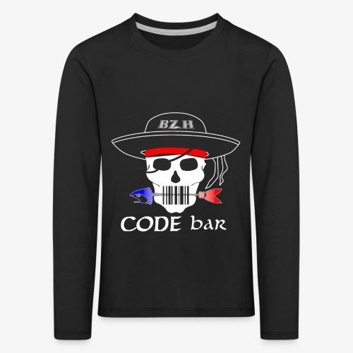 Code Bar white - T-shirt manches longues Premium Enfant