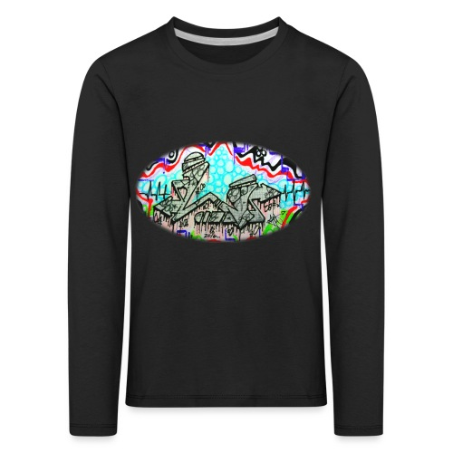 Across the Tracks Blur - Kids' Premium Longsleeve Shirt