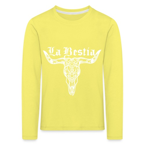 LaBestiaWhite png - Kinderen Premium shirt met lange mouwen