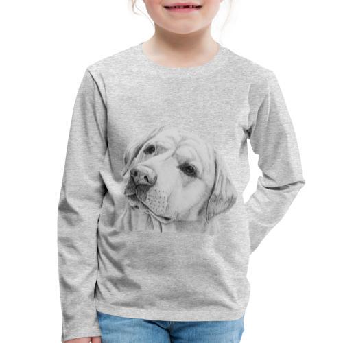 labrador retriever yellow - head - Børne premium T-shirt med lange ærmer