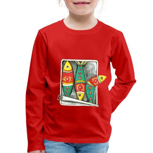 Les sardines du Portugal - T-shirt manches longues Premium Enfant