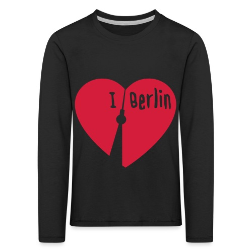 I love Berlin (1-farbig) - Kinder Premium Langarmshirt