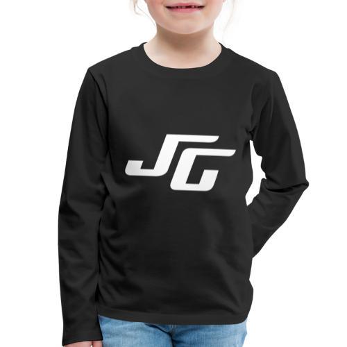 JG Logo weiss - Kinder Premium Langarmshirt