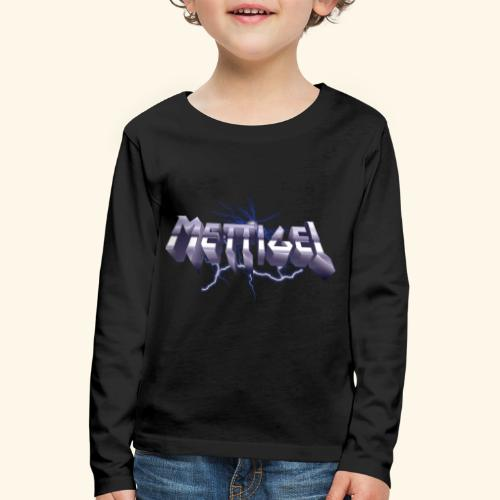 Mettigel T Shirt Design Heavy Metal Schriftzug - Kinder Premium Langarmshirt