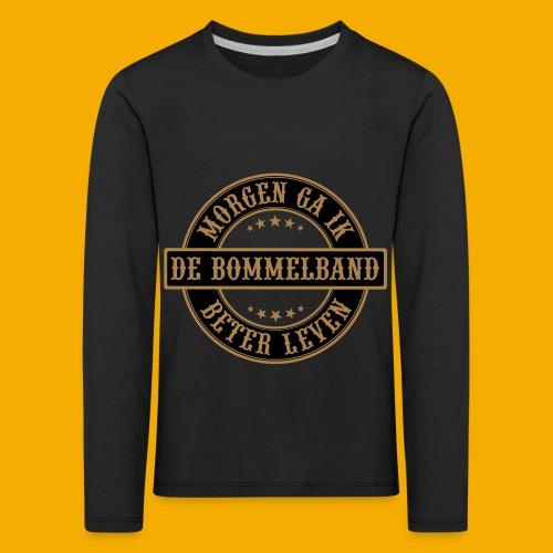 bb logo rond shirt - Kinderen Premium shirt met lange mouwen