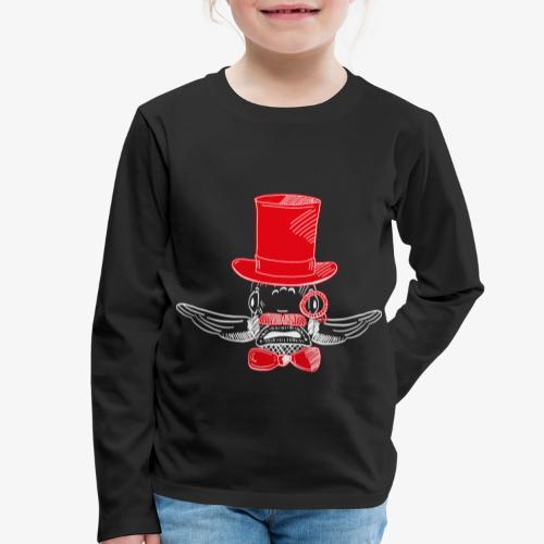 Elegant Hipster Fish - Mustache - Red - Kinder Premium Langarmshirt