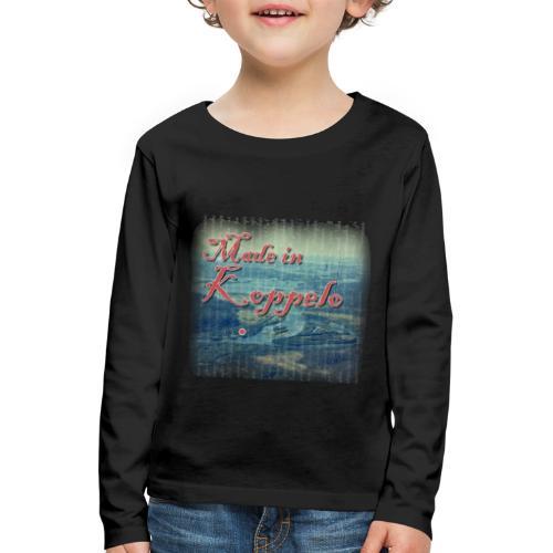 Made in Koppelo lippis - Lasten premium pitkähihainen t-paita