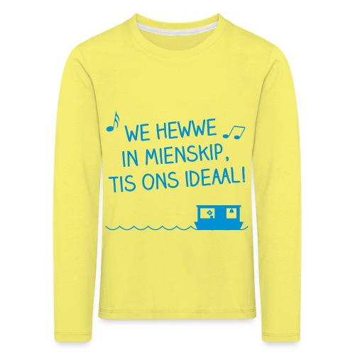 mienskip boat - Kinderen Premium shirt met lange mouwen