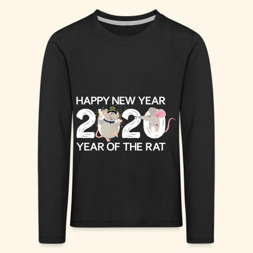 Happy New Year 2020 Gutes Neues Jahr der Ratte - Kinder Premium Langarmshirt