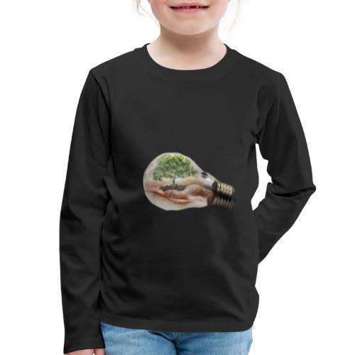 Baum und fliege in einer Glühbirne Geschenkidee - Kinder Premium Langarmshirt
