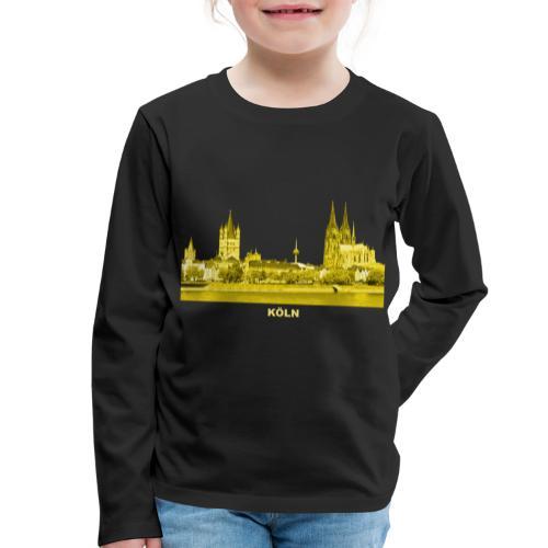 Köln Dom Rhein Nordrhein-Westfalen Deutschland - Kinder Premium Langarmshirt