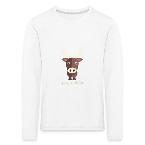 jung wild deer png - Kinder Premium Langarmshirt